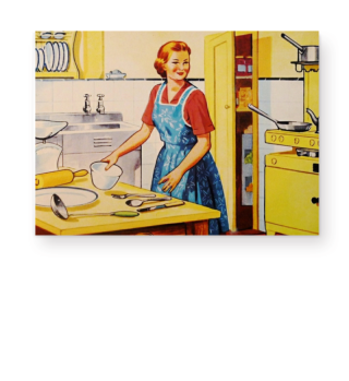 Illustration - Retro Kitchen Housewife 1
