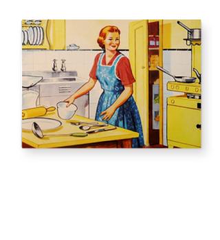 Illustration - Retro Kitchen Housewife 1