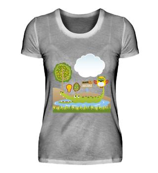 Designer T-Shirt Eulenmotiv