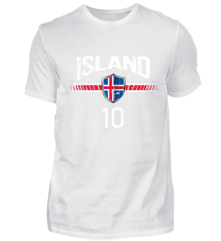 ISLAND FAN-SHIRT Nationalfarben Fußball