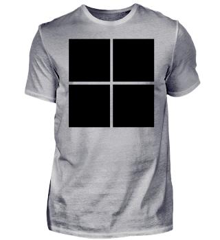 schwarzes Logo Design Style Geschenk