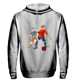 Ziphoodie&Collegejacke- Soccer