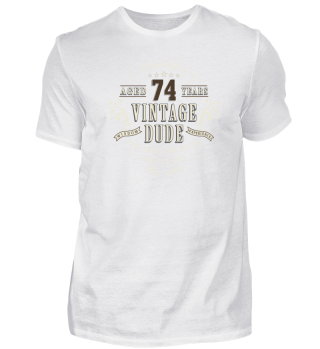 Happy 74th Birthday Vintage T-Shirt Gift
