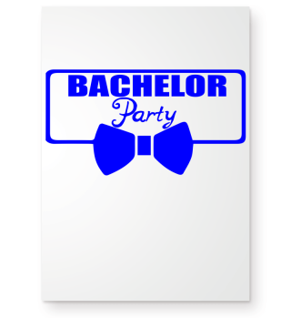 GIFT- BACHELOR PARTY TIE BLUE