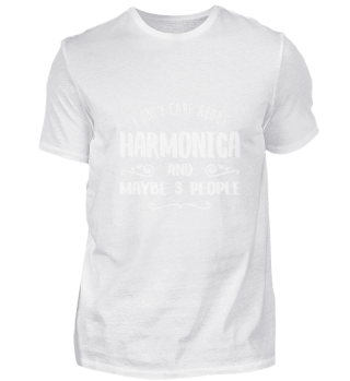 I Only Care About Harmonica FUNNY TEE SH