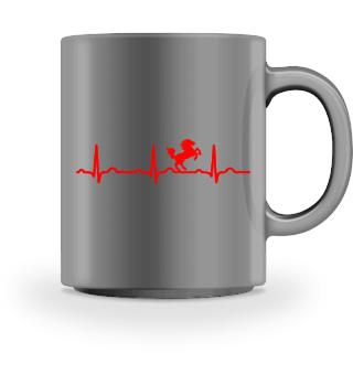 GIFT - ECG HEARTLINE HORSE RED