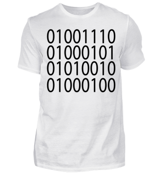 Nerd Schwarz Binär Binary