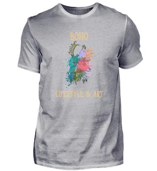 Bohemian Colored Design Deer Retro TEAM