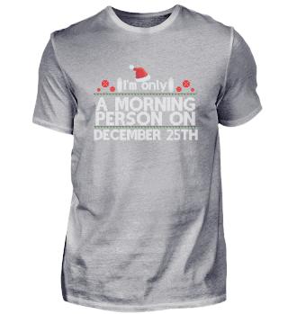 Weihnachtsspruch | Morgenmensch Schlafen
