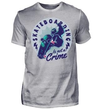 Herren Kurzarm T-Shirt Skateboarding Crime Ramirez