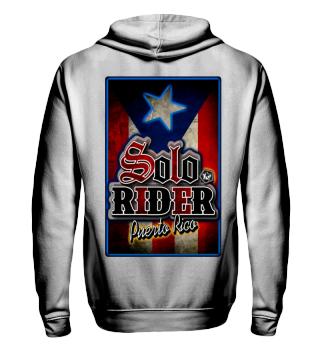 Herren Zip Hoodie Sweatshirt Solo Rider Ramirez