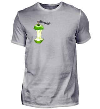 Minimalist Logo Vegan Appelgriebsch Coole Geschenkidee für Veganer
