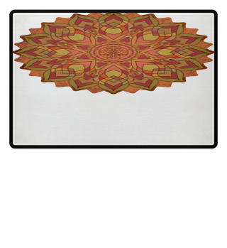 ♥ Sri Yantra Mandala - orange olive
