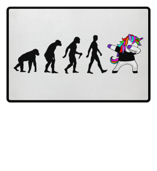 Evolution Of Humans - Dabbing Unicorn 1a
