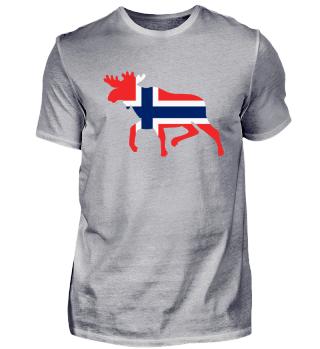 Norwegen Flagge Elch Männer T-Shirt