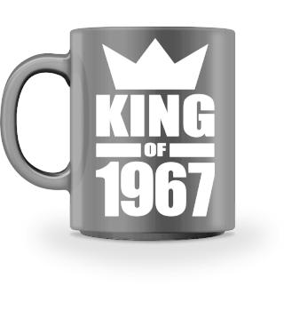 King of 1967 Geburtstag Geschenk - Krone