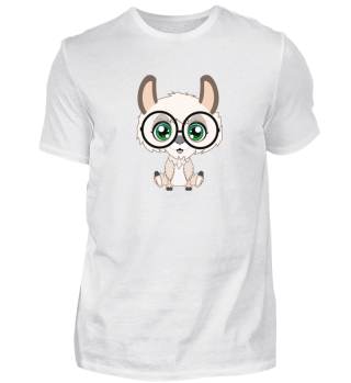 Shirt Alpaca Glasses Lama Brille cute