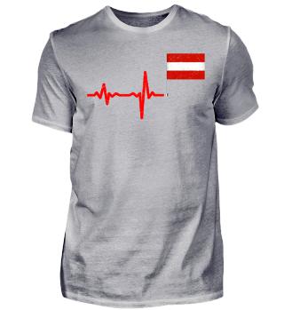 Heartbeat Austria flag gift