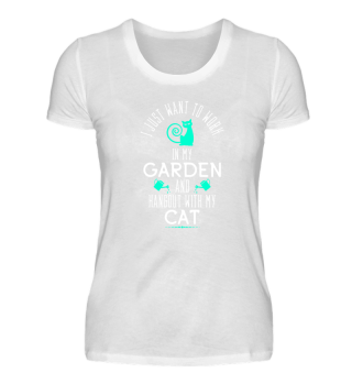 Funny Gardening T-Shirt Cat Lover Gift