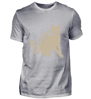 Graue Katze für Liebhaber