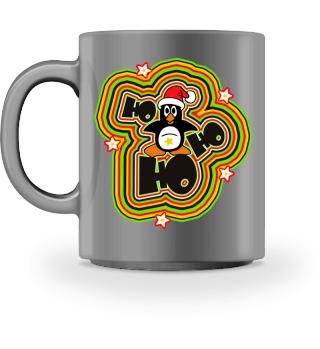 Christmas Ho Ho Ho - Santa Penguin 1