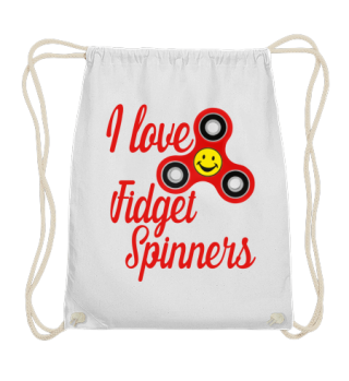 I Love Fidget Spinners - smiley - red