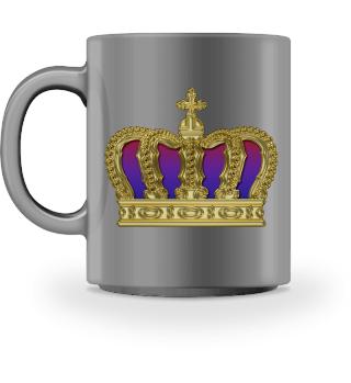 Royal Cross Crown - Gold Red Purple