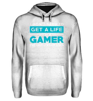 Gamer Shirt- Got lots of lives