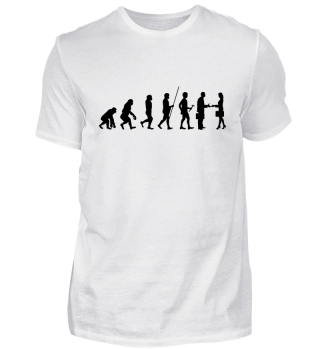 Evolution zum Hallo - Tshirt