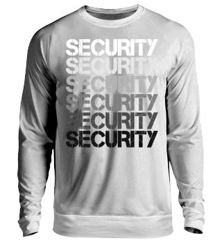 Retro Repeat Wordmark - SECURITY - grau