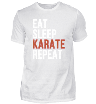 Eat Sleep Karate Repeat Funny Gift
