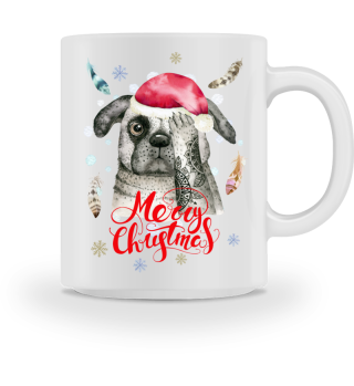 ☛ Merry Christmas · Boho Dog · Hund #9AT
