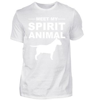 Meet Spirit Animal - bullterrier - white