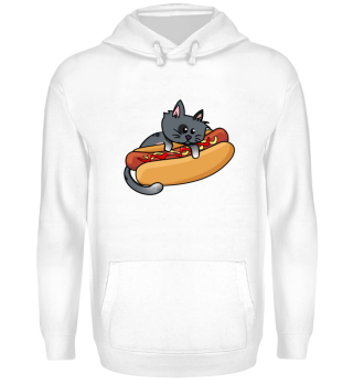 Cute cat loves her sausage ban gift