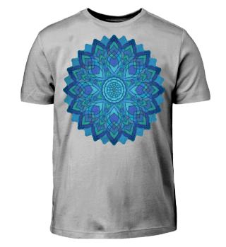 ♥ Sri Yantra Mandala - lucky blue
