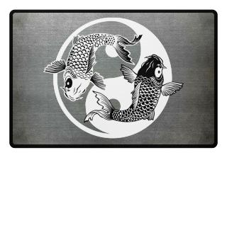 KOI Fish - Nishikigoi Yin Yang Symbol 2a