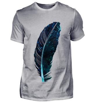 Blue & Black Feather