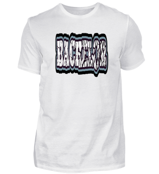 BACHELOR broken text bigone black