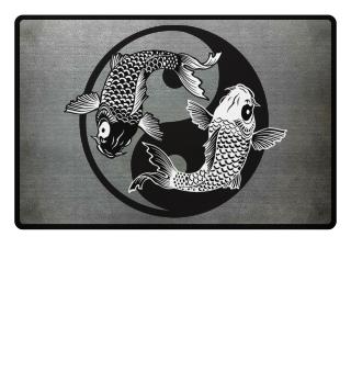 KOI Fish - Nishikigoi Yin Yang Symbol 1a