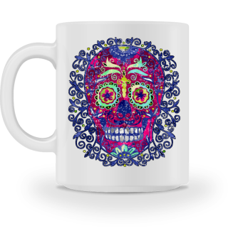 Mexican Skull Spirals Ornaments