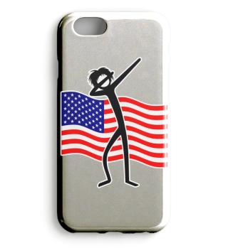 Dabbing Stick Figure - American Flag 2