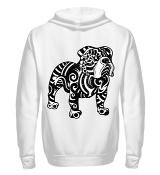 Bulldog backprint, Jackets- Unisex