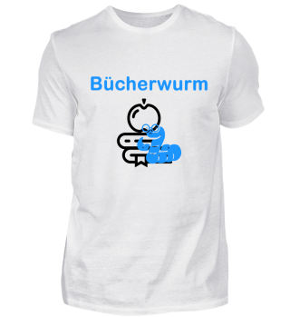 Buecherwurm | lesen | Geschenk