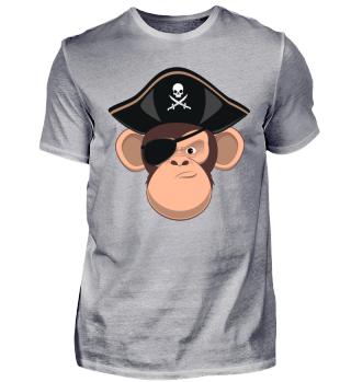Funshirt Piratenaffe SASX Design