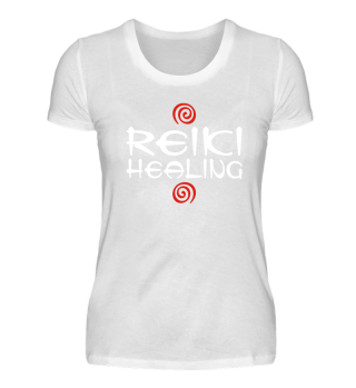 ★ Reiki Healing Energy Spirals red white