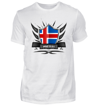 Island-Iceland Proud Wappen Flag 012