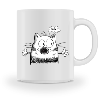 Hello Meow Cat I Fun Cartoon Gift Cats