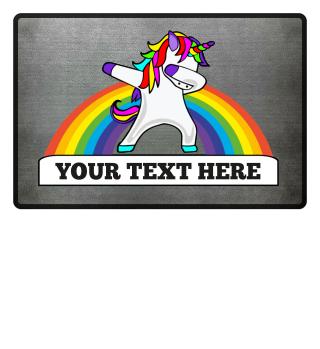 ★ Dabbing Rainbow Unicorn - Your Text 1a