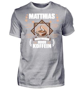 Matthias angetrieben durch Koffein