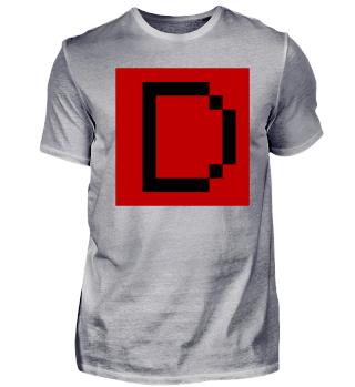 Das D als Pixelart